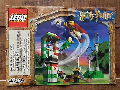 Harry Potter LEGO - 4726 Quidditch Practice Instructional Manual Only