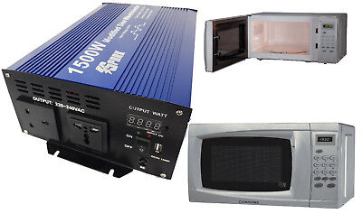 1500 Watt 24V MICROWAVE OVEN INVERTER for TRUCK HGV LORRY 24 VOLT 24V VEHICLES