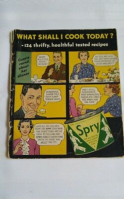 Vintage Spry cook booklet pamphlet recipes advertising.