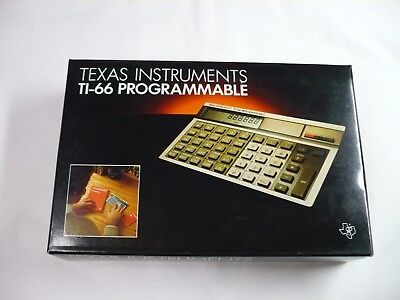 Vintage 1982 Texas TI 66 Programmable LCD basic pocket computer calculator