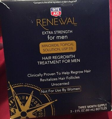 Rite Aid Renewal Extra Strength For Men Hair Regrowth Treatment 3 Month