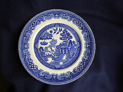 Old Willow Pattern | Dinner Plate | 25cm | Blue White