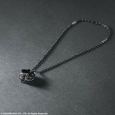 FINAL FANTASY XV Silver Pendant Light of Ring Official Limited EMS F/S NEW