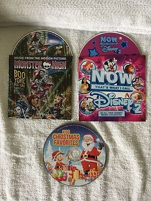 Lot Of (3) Cds-Kids Christmas Favorites, Now Thats What I Call Disney 2, Monster
