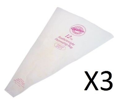 """Wilton 12"""" Featherweight Decorating Bag Polyester For Cake Decorating (3-Pack)"""