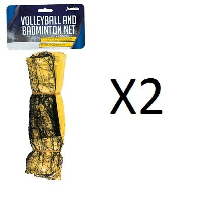 Franklin Universal Fit Screen Badminton/Volleyball Net Smaller PVC Poles (2Pack)
