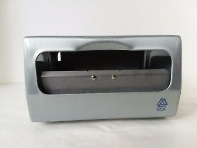 SCA Two Sided Napkin Table Restaurant Cafeteria Dispenser Blue Gray Chrome Metal