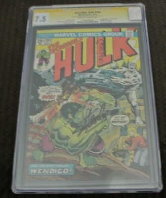 The Incredible Hulk #180CGC 7.5SS x2 Stan Lee1stAppearance of Wolverine!