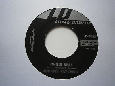 "JOHNNY PAYCHECK: Jingle Bells (Little Darlin') 1968 7"" Single"