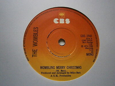 "THE WOMBLES: Wombling Merry Christmas (CBS) 1974 7"" SINGLE"