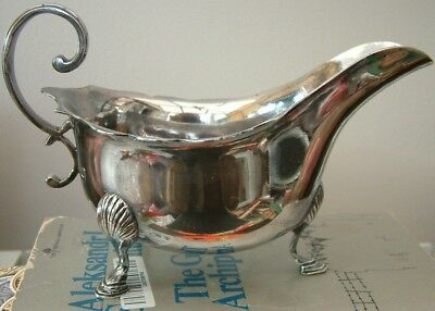 Good Quality Silver Plated Sauce Boat By William Padley C1876 -1911