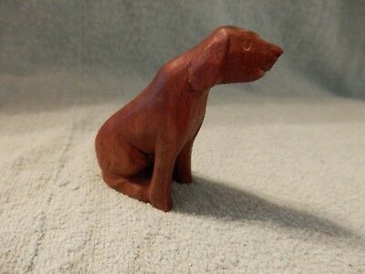 Vintage Wood Carved Dog