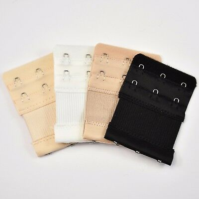 3 Hooks Bra Extender Elastic Extension Back Clip Strap Clasp Buckle