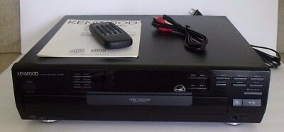 KENWOOD DPF-R4030 MULTIPLE 5 DISC CD PLAYER, W/remote and manual, mint condition