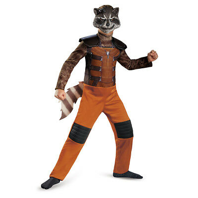 Guardians Of The Galaxy Marvel Classic Rocket Raccoon Child Costume 7-8