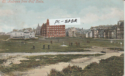 early postcard -ST ANDREWS FROM GOLF LINKS   = POSTCARD -P/U 1903