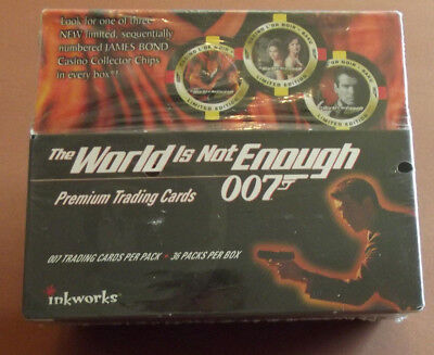James Bond The World Is Not Enough 1999 Inkworks Factory Sealed Box Casino Chip