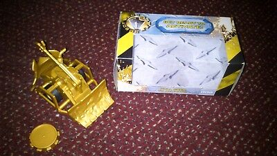 BBC Robot Wars Gold Shunt Pull Back & Go Toy RARE Complete + Box.