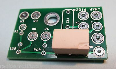 W7RY QSK Input RF Relay and Circuit Board Mounting