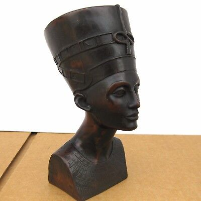 Vintage Egyptian Queen Nefertiti Bust Statue Figure Pharaoh Wife