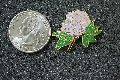 BPOE Elks Lodge #92 Seattle Exhaulted Ruler Purple Flower Pin Pinback #15811
