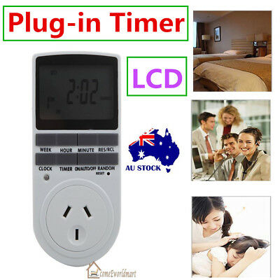 AU Plug Digital LCD Display Electronic Timer Programmable Socket Switch 24H Week