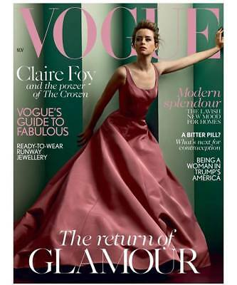 Vogue UK Magazine November 2017 - Claire Foy from The Crown