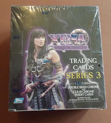 Xena Warrior Princess Series 3 Trading Card Factory Chrome & Clear Sealed Box