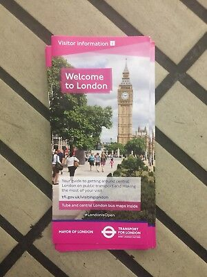 Welcome To London - Tourist Guide Tube Map Leaflet - November 2017 Version UK