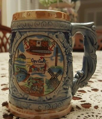 "Vintage ""Cape Cod"" Massachusetts COLLECTOR BEER MUG STEIN"