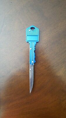 Blue Key Shaped Knife outdoor camping tool.