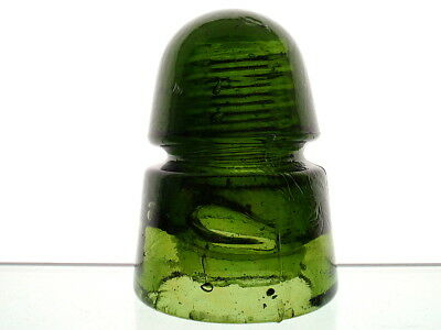 HUGE BUBBLE BRIGHT YELLOW OLIVE GREEN BROOKFIELD Beehive Insulator