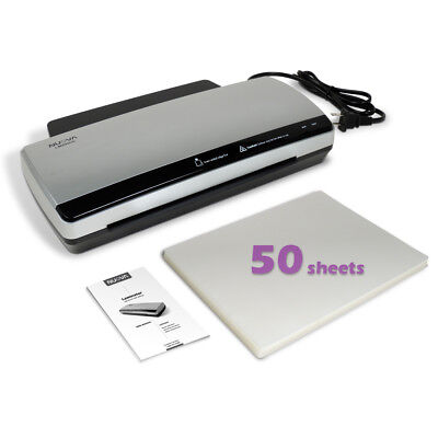 Nuova LM990HC Hot & Cold Laminator Bundle with 50-Sheet Letter Size 3Mil Pouches
