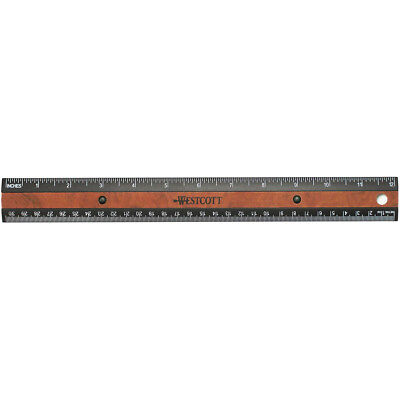 "Faux Wood Inlay Ruler 12"" Black 14077015"