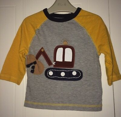 Boys Next 2016 Age 9-12 Months - Digger Top - Immaculate Condition