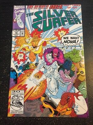"Silver Surfer#72 Incredible Condition 9.2(1992) ""Herald Ordeal""Ron Lim Cover!!"