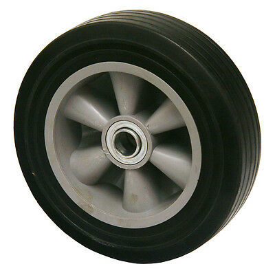 """Pair of Industrial Wheels 8"""" x 2.2"""" Solid Rubber"""