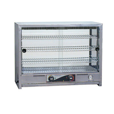 Hot Food Display Warmer 80 Pie Square Front Glass Roband PA80L Professional NEW