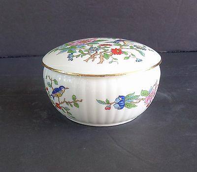 Aynsley Pembroke England Bone China Round Covered Trinket Box - Perfect