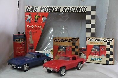 Cox Corvette Gas Powered Tether Car In Box Free Shipping