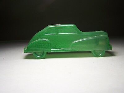 Miniature Streamlined Car Glass Candy Container