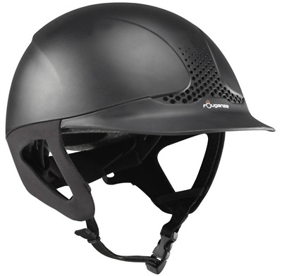 Horse Riding Helmet Shock Absorbing Safety Hat Kids Adults Comfort Black