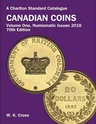 'Charlton Standard Catalog Of Canadian Coins - Volume 1 - 2016' Book - Cross