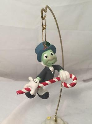 Disney Pinocchio Jiminy Cricket With Candy Cane Christmas Ornament