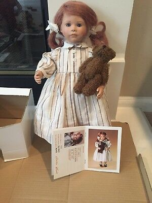"""WPM Waltershausen Effi doll 16"""" Made in Germany with box & COA"""