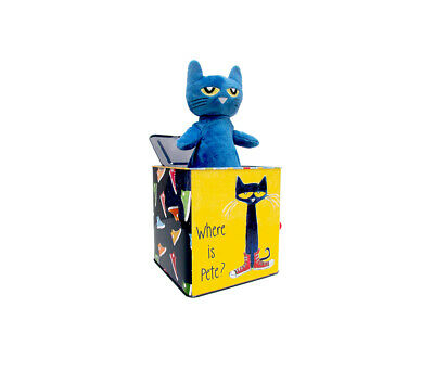 Pete the Cat Pete the Cat Musical Jack in the Box Toy Novelty Toddler Pop Up Toy