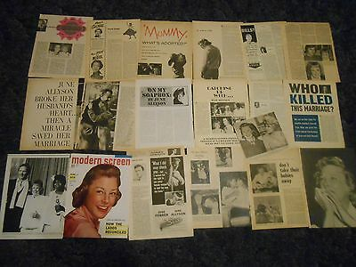 June Allyson  clippings #P55