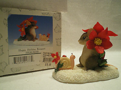 """CHARMING TAILS """"Happy Holiday Bouquet"""" 98/235  Fitz and Floyd with original box"""