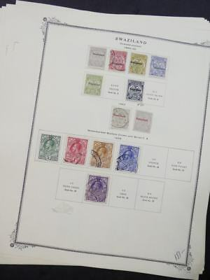 EDW1949SELL : SWAZILAND VF Mint OG & Used collection on album pages. Cat $470.00