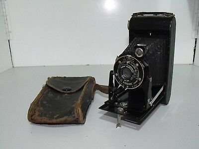 Rare Vintage Kodak Six-20 Junior Folding Film Camera & Case In Great Condition